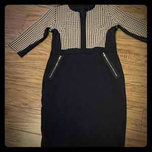 Dresses & Skirts - Houndstooth dress with zips